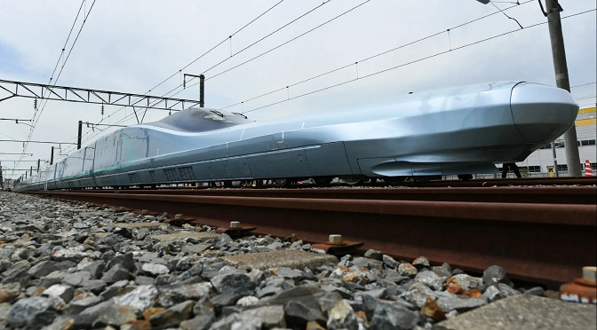 Japan Begins Trial Run For The World's Fastest Bullet Train