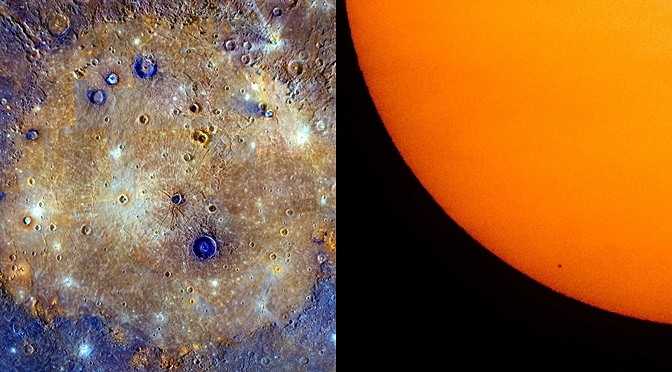 A Rare Sight Of Planet Mercury Captured From The Earth