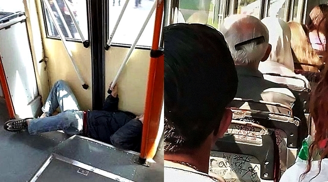 10 Funny Pictures Captured On Public Transport