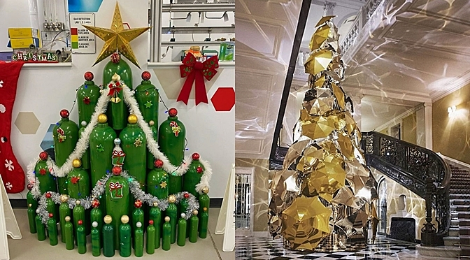Here Is How Staff From Different Companies Decorated Their  Christmas Trees