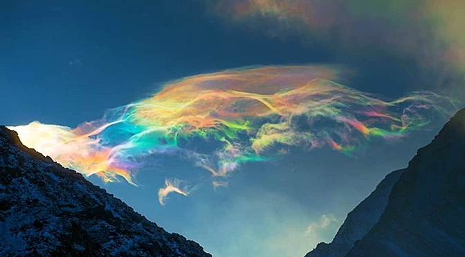 A Russian Woman Shares  Mesmerizing Pictures Of Iridescent Clouds